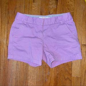 JCrew chino purple cotton shorts